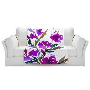 Unique Sherpa Blankets from DiaNoche Designs by Julia Di Sano - Pocketful Posies Purple