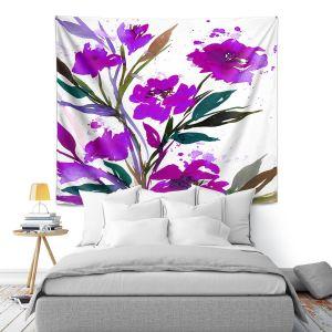 Artistic Wall Tapestry | Julia Di Sano - Pocketful Posies Purple