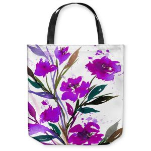 Unique Shoulder Bag Tote Bags | Julia Di Sano - Pocketful Posies Purple