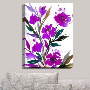 Decorative Canvas Wall Art | Julia Di Sano - Pocketful Posies Purple | Abstract Painting