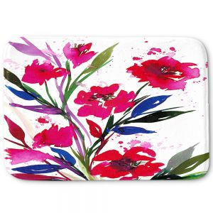 Decorative Bath Mat Large from DiaNoche Designs by Julia Di Sano - Pocketful Posies Red