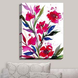 Decorative Canvas Wall Art | Julia Di Sano - Pocketful Posies Red | Abstract Painting