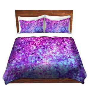 Artistic Duvet Covers and Shams Bedding | Julia Di Sano - Radiant Orchid Galaxy