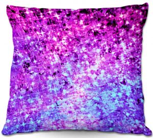 Throw Pillows Decorative Artistic | Julia Di Sano's Radiant Orchid Galaxy