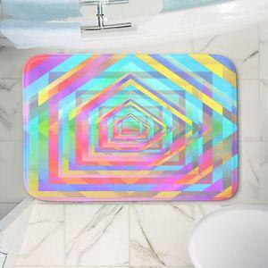 Decorative Bathroom Mats | Julia Di Sano - Rainbow Vortex 13 | Geometric Abstract