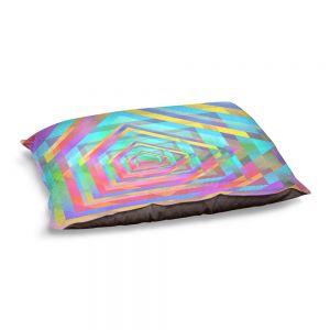 Decorative Dog Pet Beds | Julia Di Sano - Rainbow Vortex 13 | Geometric Abstract