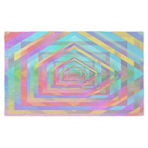 Artistic Pashmina Scarf | Julia Di Sano - Rainbow Vortex 13 | Geometric Abstract