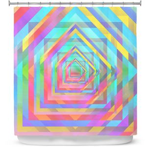 Premium Shower Curtains | Julia Di Sano - Rainbow Vortex 13 | Geometric Abstract