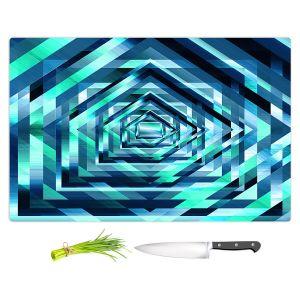 Artistic Kitchen Bar Cutting Boards   Julia Di Sano - Rainbow Vortex 1   Geometric Abstract