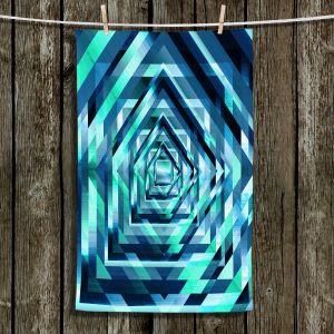 Unique Hanging Tea Towels | Julia Di Sano - Rainbow Vortex 1 | Geometric Abstract