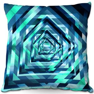 Decorative Outdoor Patio Pillow Cushion | Julia Di Sano - Rainbow Vortex 1 | Geometric Abstract