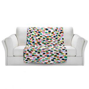Artistic Sherpa Pile Blankets | Julia Di Sano - Retro Mod Dots I
