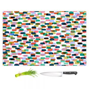 Artistic Kitchen Bar Cutting Boards | Julia Di Sano - Retro Mod Dots I