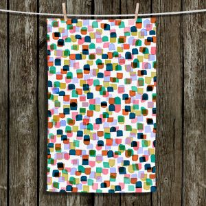 Unique Hanging Tea Towels | Julia Di Sano - Retro Mod Dots I | Mid Century Patterns Colorful