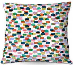 Decorative Outdoor Patio Pillow Cushion | Julia Di Sano - Retro Mod Dots I