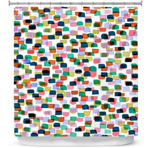 Premium Shower Curtains | Julia Di Sano - Retro Mod Dots I