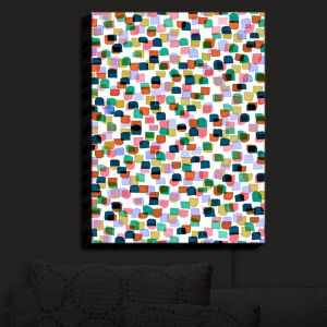 Nightlight Sconce Canvas Light | Julia Di Sano - Retro Mod Dots I | Mid Century Patterns Colorful