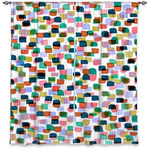Decorative Window Treatments | Julia Di Sano - Retro Mod Dots I