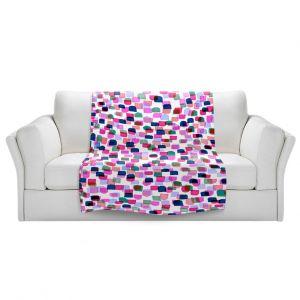 Artistic Sherpa Pile Blankets | Julia Di Sano - Retro Mod Dots II