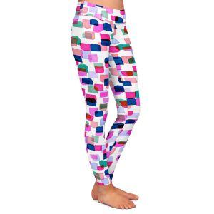 Casual Comfortable Leggings   Julia Di Sano - Retro Mod Dots II