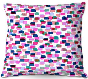 Decorative Outdoor Patio Pillow Cushion   Julia Di Sano - Retro Mod Dots II