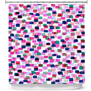 Premium Shower Curtains | Julia Di Sano - Retro Mod Dots II