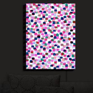 Nightlight Sconce Canvas Light | Julia Di Sano - Retro Mod Dots II | Mid Century Patterns Colorful