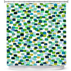 Premium Shower Curtains | Julia Di Sano - Retro Mod Dots V