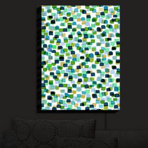 Nightlight Sconce Canvas Light | Julia Di Sano - Retro Mod Dots V | Mid Century Patterns Colorful