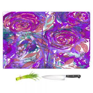 Artistic Kitchen Bar Cutting Boards | Julia Di Sano - Rose Combustion Plum Purple