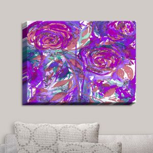 Decorative Canvas Wall Art | Julia Di Sano - Rose Combustion Plum Purple | Abstract Painting