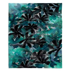 Decorative Fleece Throw Blankets | Julia Di Sano - Snowy Stars 8 | Flower Pattern