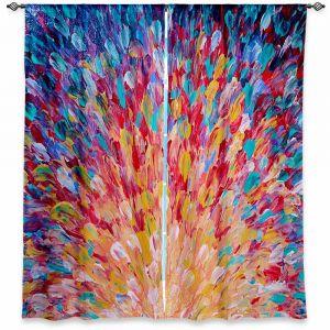 Unique Window Curtains Sheer 60w x 82h from DiaNoche Designs by Julia Di Sano - Splash I