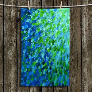 Unique Hanging Tea Towels   Julia Di Sano - Splash Out Green   Abstract