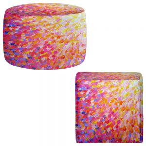 Round and Square Ottoman Foot Stools | Julia Di Sano - Splash Out Pink