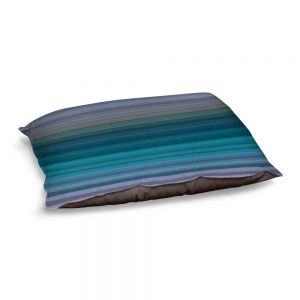 Decorative Dog Pet Beds   Julia Di Sano - Stria Blue Grey   Geometric Pattern