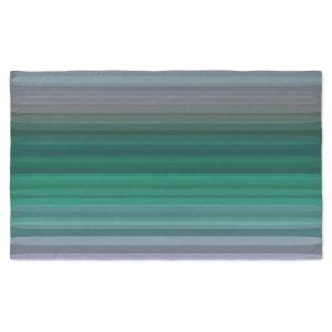 Artistic Pashmina Scarf | Julia Di Sano - Stria Green Grey | Geometric Pattern