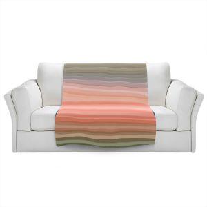 Artistic Sherpa Pile Blankets | Julia Di Sano - Stria Pink Peach | Geometric Pattern