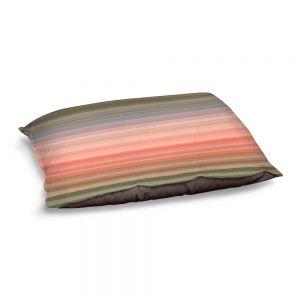 Decorative Dog Pet Beds | Julia Di Sano - Stria Pink Peach | Geometric Pattern