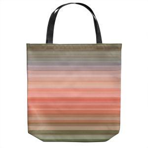 Unique Shoulder Bag Tote Bags | Julia Di Sano - Stria Pink Peach | Geometric Pattern