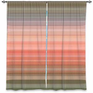 Decorative Window Treatments   Julia Di Sano - Stria Pink Peach   Geometric Pattern