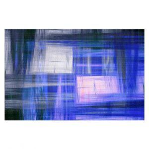 Decorative Floor Coverings | Julia Di Sano - Tartan Crosshatch Blue