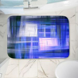 Decorative Bathroom Mats | Julia Di Sano - Tartan Crosshatch Blue