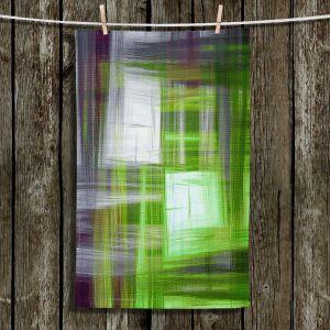 Unique Bathroom Towels | Julia Di Sano - Tartan Crosshatch Green