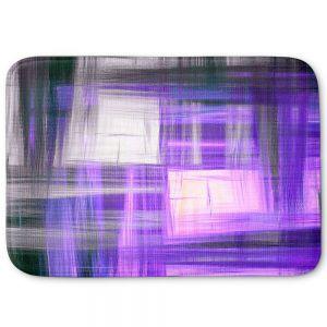 Decorative Bathroom Mats | Julia Di Sano - Tartan Crosshatch Purple