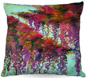 Decorative Outdoor Patio Pillow Cushion | Julia Di Sano - The Perfect Storm 3 | abstract pattern watercolor