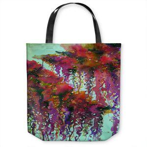 Unique Shoulder Bag Tote Bags | Julia Di Sano - The Perfect Storm 3 | abstract pattern watercolor