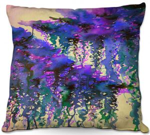 Decorative Outdoor Patio Pillow Cushion | Julia Di Sano - The Perfect Storm 4 | abstract pattern watercolor