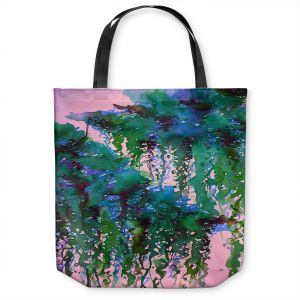 Unique Shoulder Bag Tote Bags | Julia Di Sano - The Perfect Storm 5 | abstract pattern watercolor