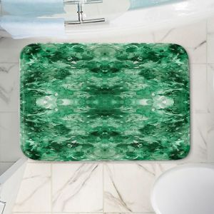 Decorative Bathroom Mats | Julia Di Sano - Tie Dye Helix Green